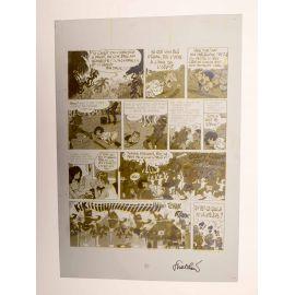 WALTHERY Natacha Le grand pari wallon plaque d'imprimerie 63 yellow