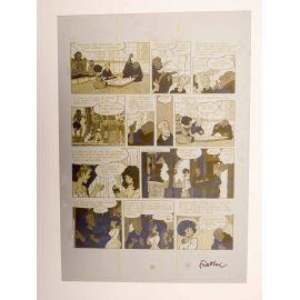 WALTHERY Natacha Le grand pari wallon plaque d'imprimerie 82 yellow