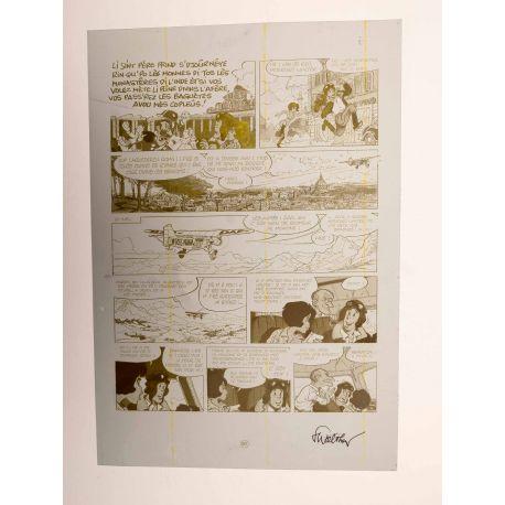 WALTHERY Natacha Le grand pari wallon plaque d'imprimerie 91 yellow
