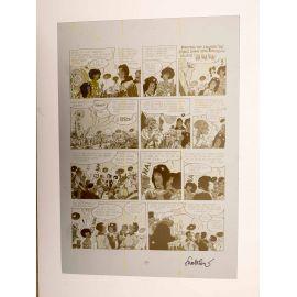WALTHERY Natacha Le grand pari wallon plaque d'imprimerie 94 yellow