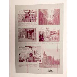 WALTHERY Natacha Le grand pari wallon plaque d'imprimerie 99 magenta