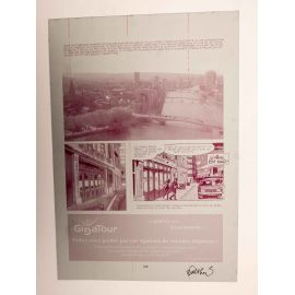 WALTHERY Natacha Le grand pari wallon plaque d'imprimerie 100 magenta