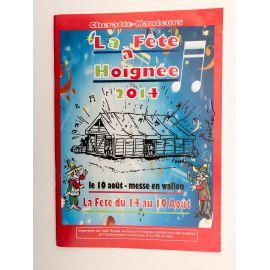 WALTHERY programme La Fête à Hoignée 2014 signé