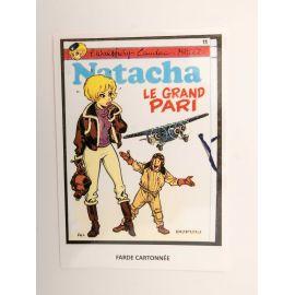 WALTHERY carte postale Natacha Le Grand Pari (verso vierge)