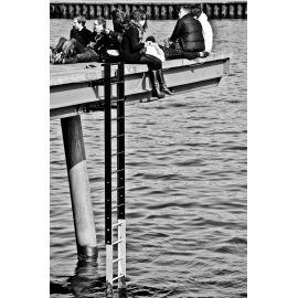 DECKERS Soleil d'avril à Copenhague, tirage 15x21 numéroté et signé