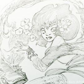 SAUVION dessin original A4 n° 20