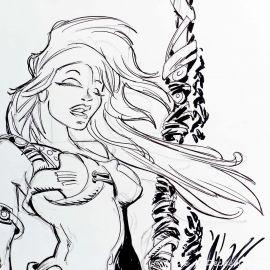 SAUVION dessin original A4 n° 21