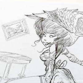 SAUVION dessin original A4 n° 24