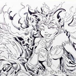 SAUVION dessin original A4 n° 25