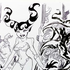 SAUVION dessin original A4 n° 28