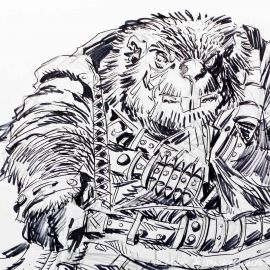 SAUVION dessin original A4 n° 39