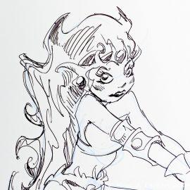 SAUVION dessin original A4 n° 41