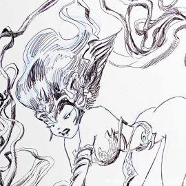 SAUVION dessin original A4 n° 49