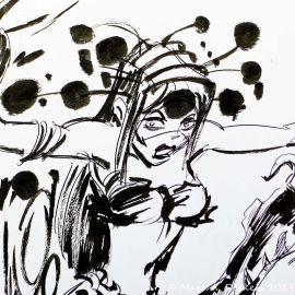 SAUVION dessin original A4 n° 51