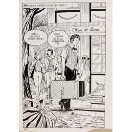 GIOLITTI ( Elvifrance ) planche originale 5-7