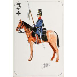 PAQUES J-M Cavalier napoléonien 3 de trèfle Neumark Regiment