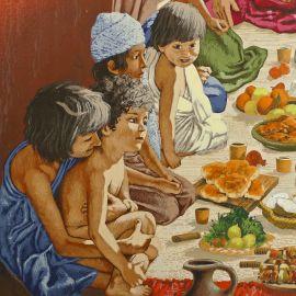 TORTON La Fresque biblique original 123 Job et ses enfants (tome 3 page 338)