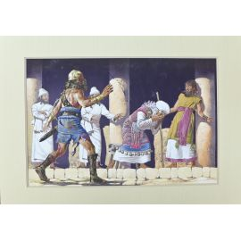 TORTON La Fresque biblique original 185 La mort d'Eli à Silo (tome 4 page 520)