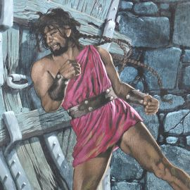 TORTON La Fresque biblique original 168 Samson en prison (tome 4 page 459)