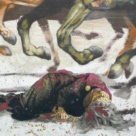 TORTON La Fresque biblique original La mort de Jézabel (tome 6 page 800)