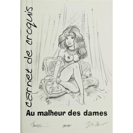 WALTHERY / DI SANO Au malheur des dames carnet de crayonnés Joker