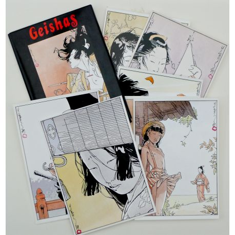 MICHETZ portfolio de cartes postales Geishas