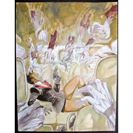 VAN DE WALLE illustration couleur A3 n° 6 Les mains diaboliques