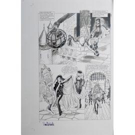 VAN DE WALLE Captives de l'île aux pirates plaque d'imprimerie 6