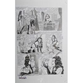 VAN DE WALLE Captives de l'île aux pirates plaque d'imprimerie 43