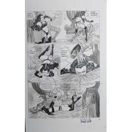 VAN DE WALLE Captives de l'île aux pirates plaque d'imprimerie 45