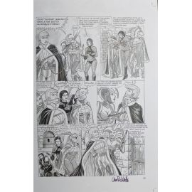 VAN DE WALLE Captives de l'île aux pirates plaque d'imprimerie 59