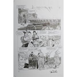 VAN DE WALLE Captives de l'île aux pirates plaque d'imprimerie 60