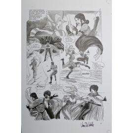 VAN DE WALLE Captives de l'île aux pirates plaque d'imprimerie 61
