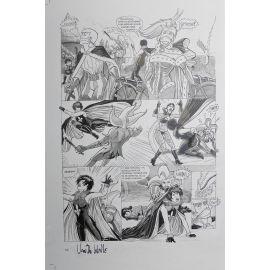 VAN DE WALLE Captives de l'île aux pirates plaque d'imprimerie 62