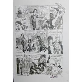 VAN DE WALLE Captives de l'île aux pirates plaque d'imprimerie 63