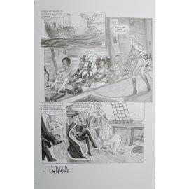 VAN DE WALLE Captives de l'île aux pirates plaque d'imprimerie 64