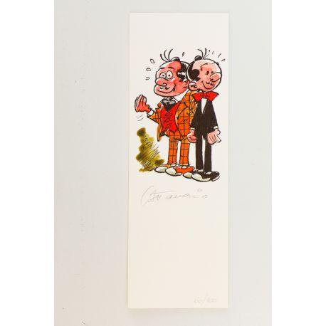 ATTANASIO marque-page Spaghetti signé