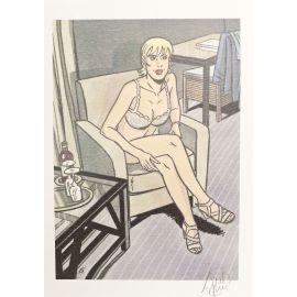 TAYMANS Roxane ex-libris fauteuil beige n et s 50 ex