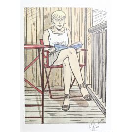 TAYMANS Roxane ex-libris terrasse HC signé