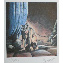 BONNET ex-libris femme-loup n et s 250 ex