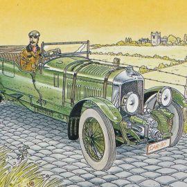 CARIN ex-libris Victor Sackville en auto verte