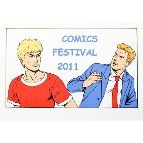 MARTIN Alix Lefranc ex-libris Comics Festival 2011 couleur