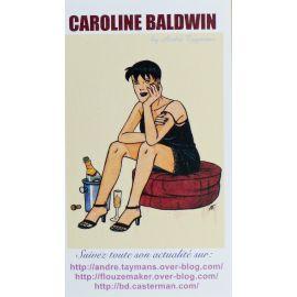 TAYMANS Caroline Baldwin carte de visite