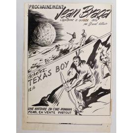 ALLAIN dessin original Jean Braga