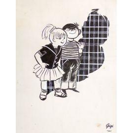 GIGI dessin original enfants n° 12